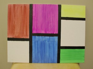 Inspired by Piet Mondrian